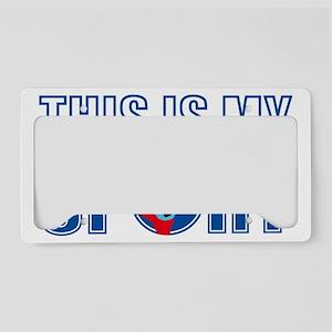 handball player License Plate Holder
