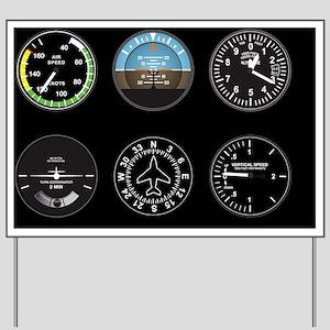 Cockpit Instruments Yard Sign