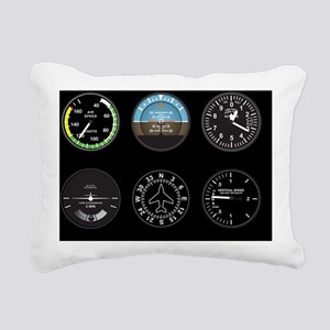 Cockpit Instruments Rectangular Canvas Pillow