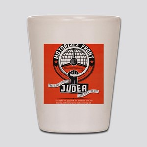 Motorists' Front of Judea solid red Shot Glass