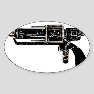 Tesla Ray Gun Sticker (Oval)