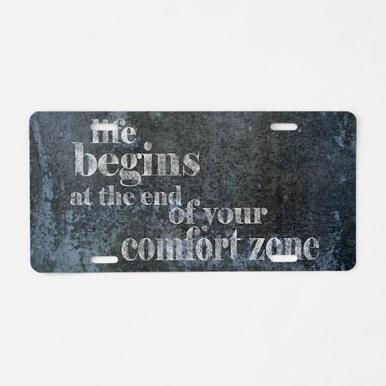 Life Begins Aluminum License Plate