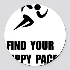 Happy Pace Round Car Magnet