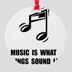 Music Feelings Round Ornament