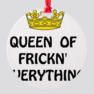 Queen Everything Round Ornament