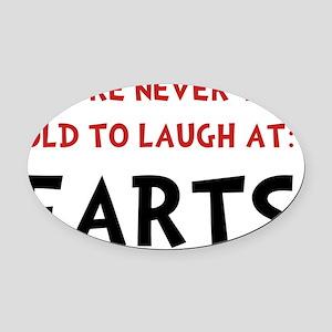 Laugh Farts Oval Car Magnet