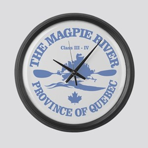 Magpie River Large Wall Clock