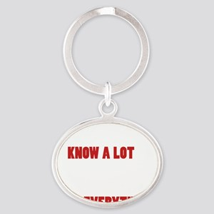 Grandpas Know Everything Oval Keychain