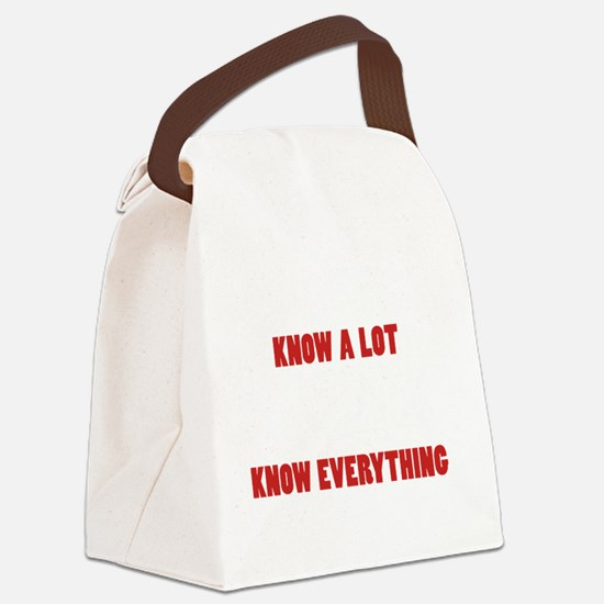 Grandpas Know Everything Canvas Lunch Bag
