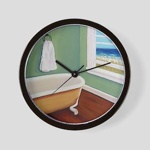 Window Sea Bath Tub Wall Clock