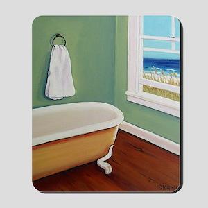 Window Sea Bath Tub Mousepad