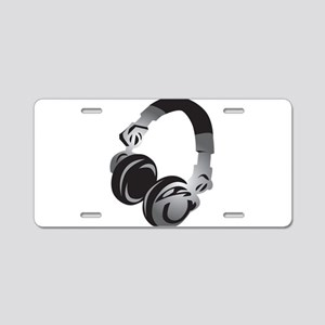 Headphones Aluminum License Plate