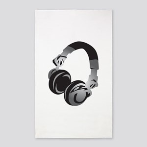 Headphones 3'x5' Area Rug