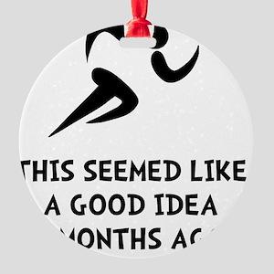 Seemed Good Idea Round Ornament