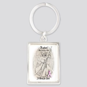 Raphael Breast Cancer ipad Portrait Keychain