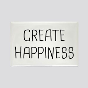 Create Happiness Rectangle Magnet