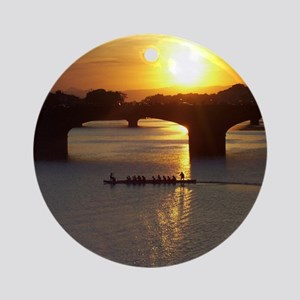 Florence Italy Sunset Round Ornament