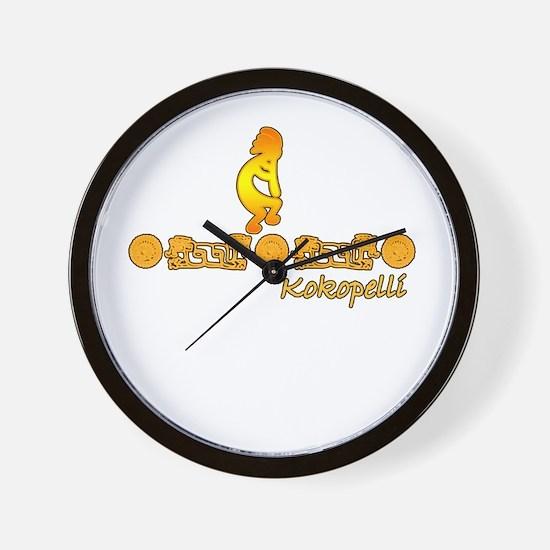 Gold Kokopelli Wall Clock