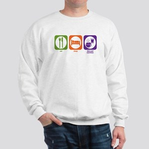 Eat Sleep Diet and Nutrition Sweatshirt