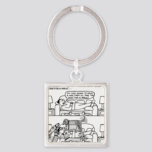 Afternoon Nap Square Keychain