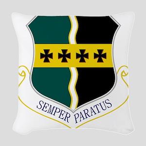 9th RW - Semper Paratus Woven Throw Pillow