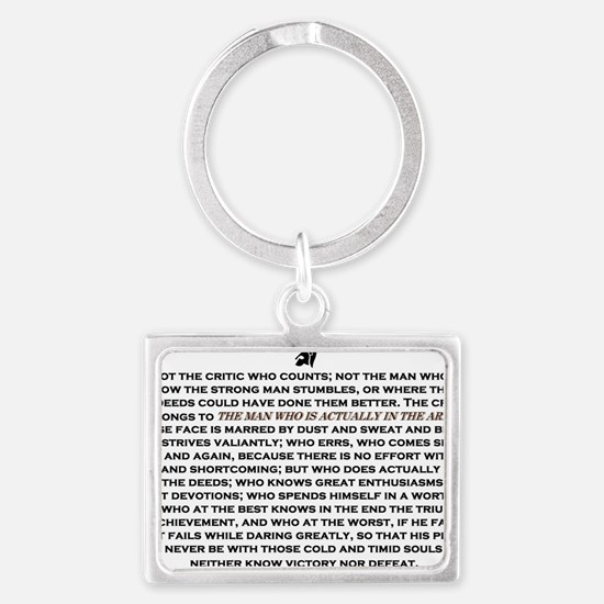 Man in the Arena Landscape Keychain