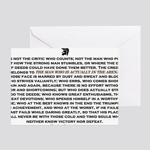 Man in the Arena Greeting Card