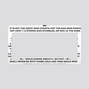 Man in the Arena License Plate Holder