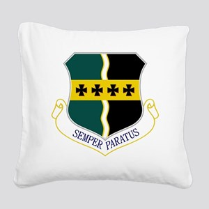 9th RW - Semper Paratus Square Canvas Pillow