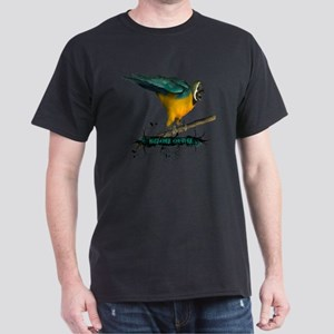 Green Parrot Grunge HCC Dark T-Shirt