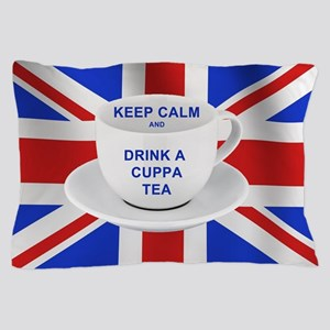 Keep Calm and Drink a Cuppa Tea Pillow Case