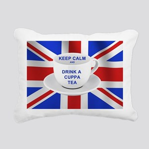 Keep Calm and Drink a Cu Rectangular Canvas Pillow
