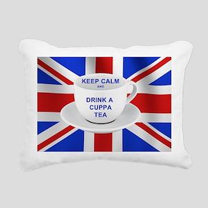 Keep Calm and Drink a Cu Rectangular Canvas Pillow