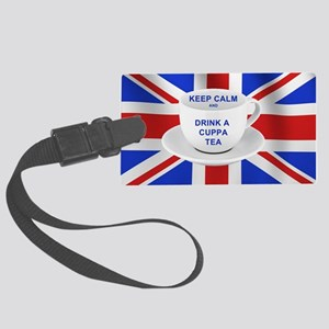 Keep Calm and Drink a Cuppa Tea Large Luggage Tag