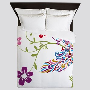 Muti-colored Peacock Queen Duvet