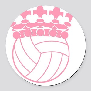 Volleyball Princess Round Car Magnet