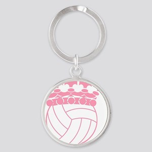 Volleyball Princess Round Keychain