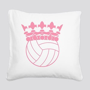 Volleyball Princess Square Canvas Pillow