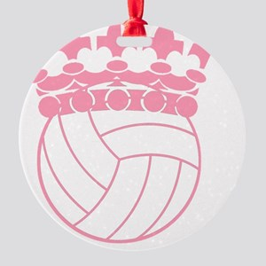Volleyball Princess Round Ornament