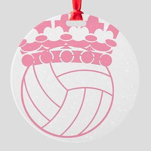 Volleyball Princess Round Ornament