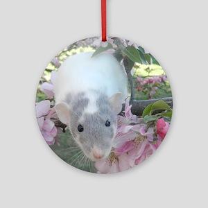 Pet Rat Round Ornament