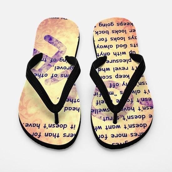 Message of Love Flip Flops