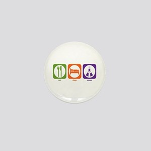 Eat Sleep Cranes Mini Button