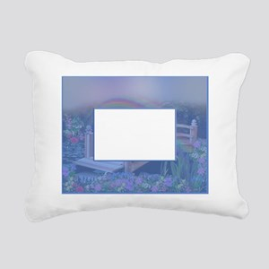 Rainbow Bridge - Blue Rectangular Canvas Pillow