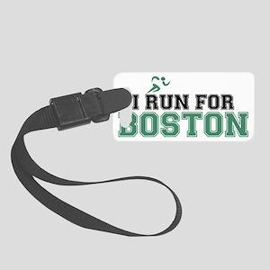 I RUN FOR BOSTON Small Luggage Tag