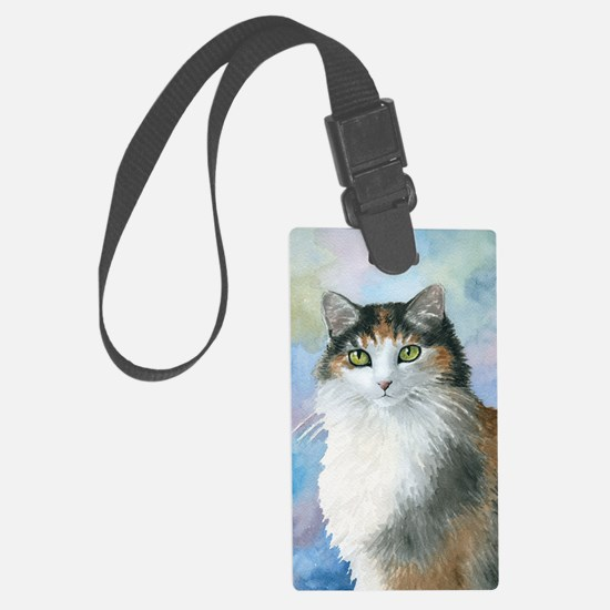 Cat 572 Calico Luggage Tag