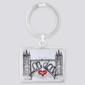 London with love Landscape Keychain