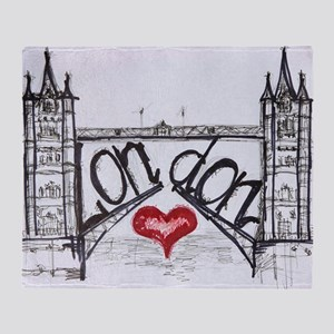 London with love Throw Blanket