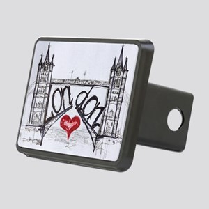 London with love Rectangular Hitch Cover