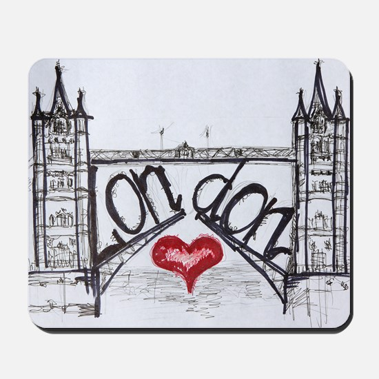 London with love Mousepad